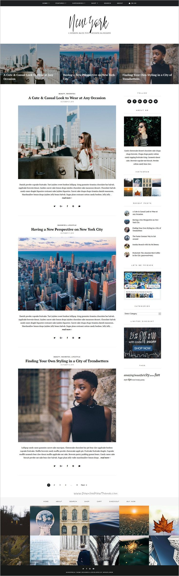 New York is a clean , minimal and fast loading responsive #WordPress theme for #bloggers website with multiple layouts download now➩ https://themeforest.net/item/new-york-wordpress-blog-shop-theme/19185945?ref=Datasata