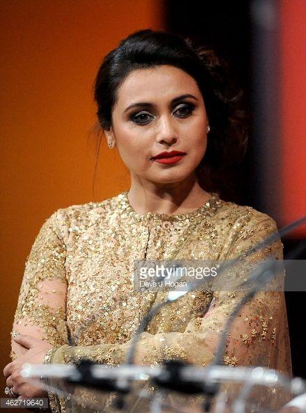 News Photo : Actress Rani Mukerji are seen onstage as she...