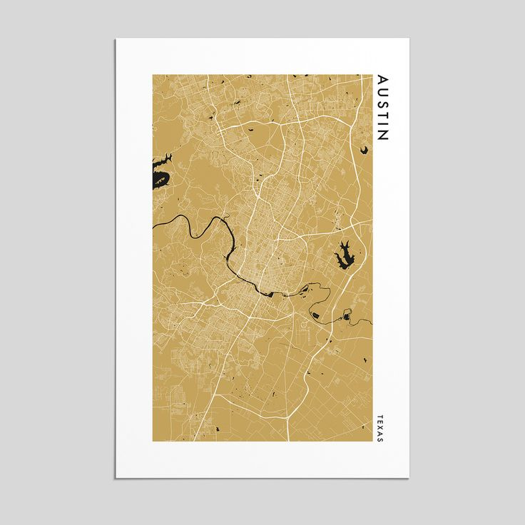 Map Of Us States With Major Highways%0A Austin  Texas   City Map Print  Style