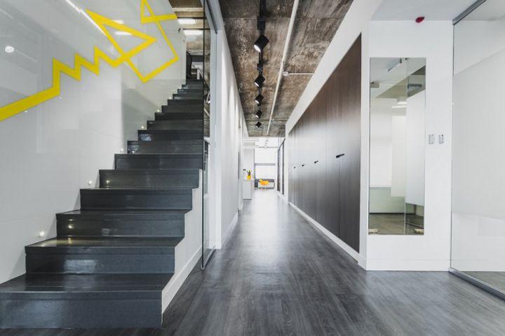 cupboard door matches with flooring IND Architects office Moscow Russia IND Architects office, Moscow   Russia