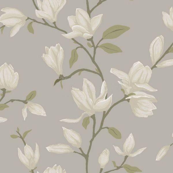 Vacker magnolia från kollektionen Manor House 347046. Klicka för att se fler inspirerande tapeter för ditt hem!