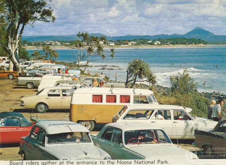 Beach side at Noosa Heads in Queensland, in the early 1970's. v@e