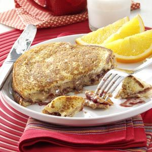 Peanut Butter and Jelly French Toast Recipe from Taste of Home -- shared by Flo Burtnett of Gage, Oklahoma