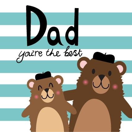 Best Daddy Bear- Father's Day Card