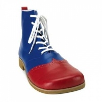 Wing Tip Red and Blue Leatherette Clown Shoes: $64.50