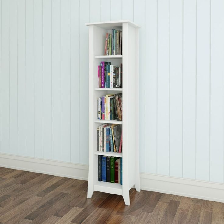 "Nexera Vice Versa 60"" Slim Bookcase - White 