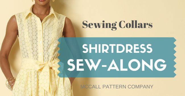 Shirtdress Sew-Along: Sewing Collars
