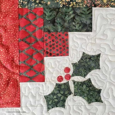 Christmas Log Cabin Quilt Tutorial Easy to make Ch…