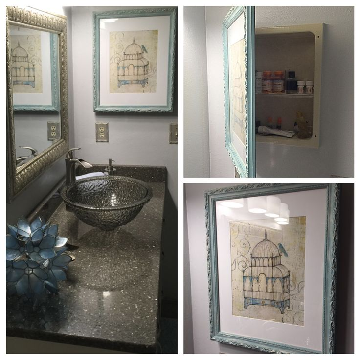 Need To Update That Old Medicine Cabinet? Take A Nice Frame And Use The  Existing