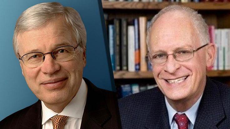 Der Nobelpreis in der Kategorie Wirtschaftswissenschaften geht in diesem Jahr an Oliver Hart (r.) und Bengt Holmström (l.)