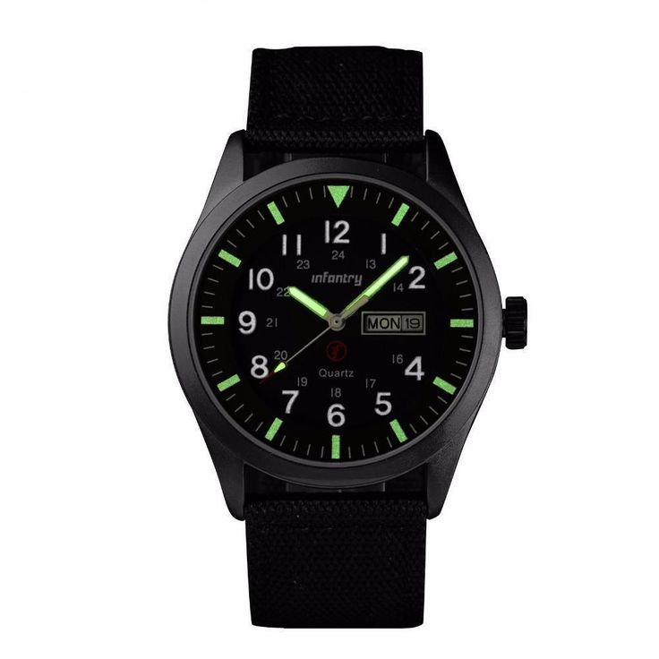 INFANTRY Mens Watches Relojes Hombre Luminous Watches 2017 New Date Da