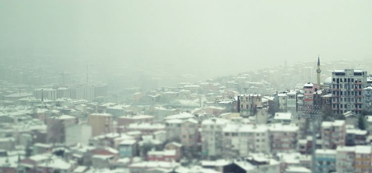 snow in town #istanbul