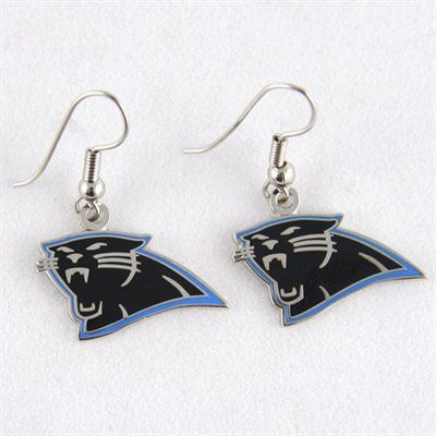 Carolina Panthers Logo Wire Earrings