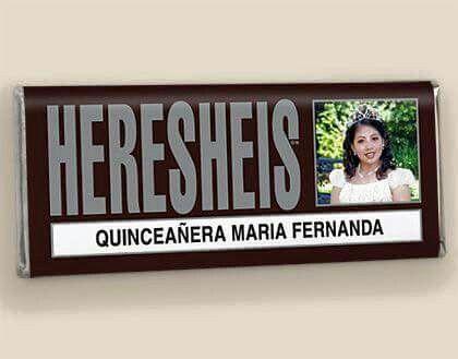 Invitación con chocolate