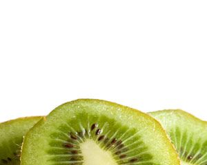 Kiwi PowerPoint template background with white background color and kiwi illustration