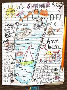 A fun activity for when 3rd grade or 4th grade students come back to school. This Summer My Feet and I Have Been...