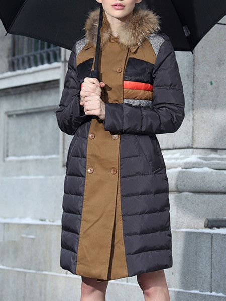 Beign Paneled Color Block Down Coats