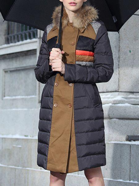 Beign Paneled Color Block Down Coats