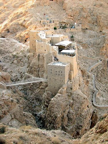 "Deir Mar Musa Monastery, Syria. Literally ""the Monastery of Saint Moses the Abyssinian"" is a monastic community of Syriac Catholic rite, situated near the town of Nabk, approximately 80 kilometers north of Damascus, on the Eastern slopes of the Anti-Lebanon. The main church of the monastic compound hosts precious frescoes dating to the 11th and 12th century AD."