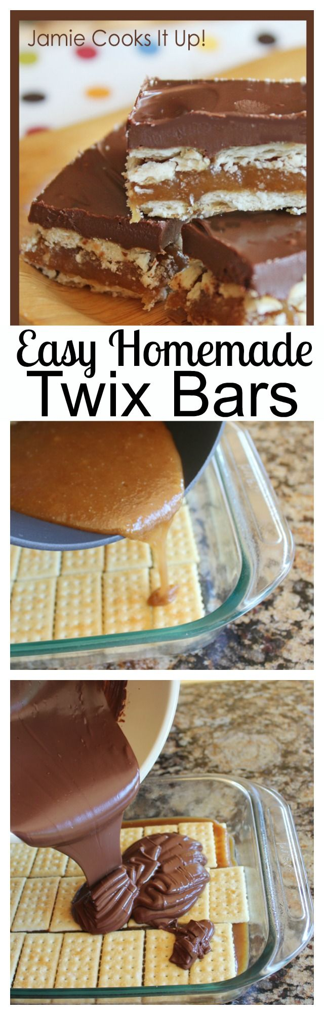 Easy Homemade Twix Bars, you won't believe how delicious these are!
