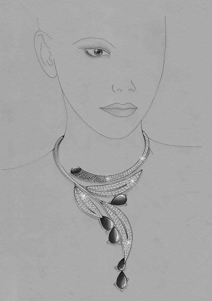 Jewelry Design Line Art : Best images about jewelry design drawing on pinterest