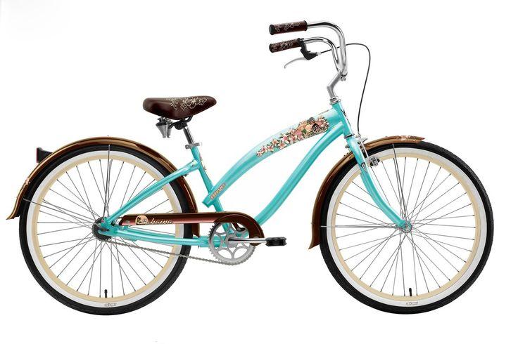 women's beach cruiser bike | Nirve 2010 Lahaina Women's Beach Cruiser - Single Speed - Coral Teal