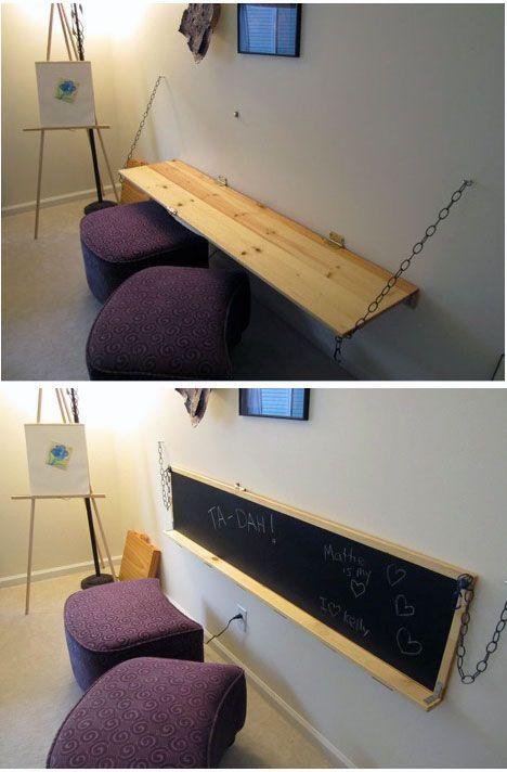 lavagna e scrivania