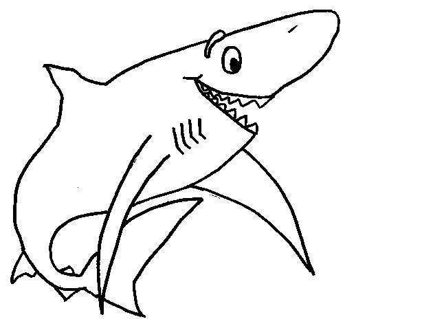 Dibujo De Tiburon Para Colorear Dibujos De Animales Dibujos
