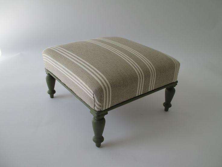 Stool in Ian Mankin fabric