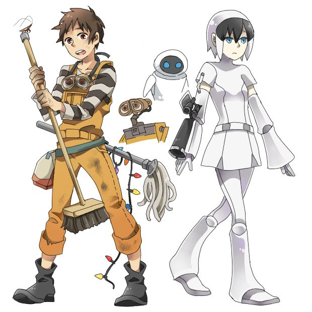 WALL-E as an Anime. << You guys do not UNDERSTAND how much I love this MOVIE. I swear. THIS IS JUST TOO PERFECT.