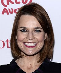 Savannah Guthrie Hairstyle - Casual Medium Straight