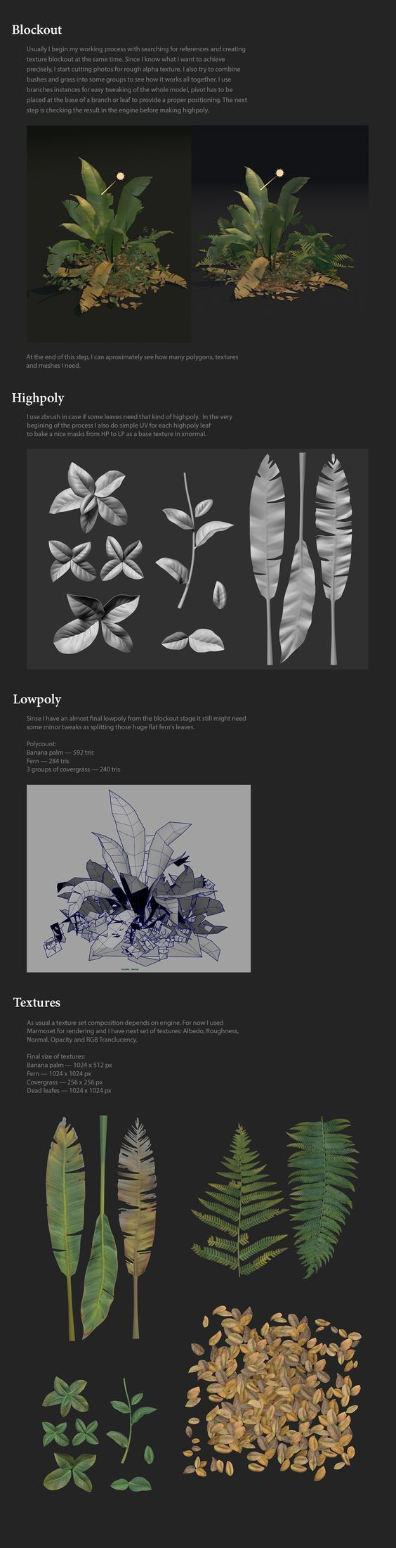 ArtStation - Foliage study, Vitaly Bobrov
