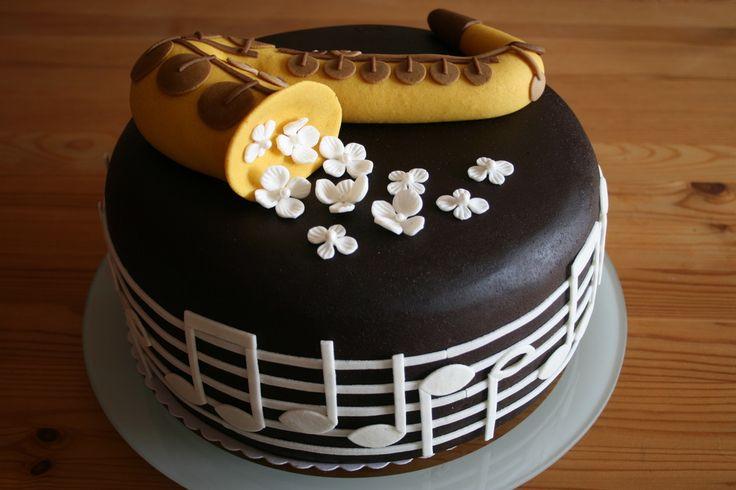 Saxophon-Torte zum 50. Geburtstag