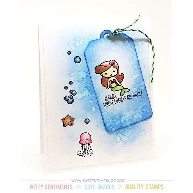 Mermaid Shelfie Sweet Stamp Shop Just because card