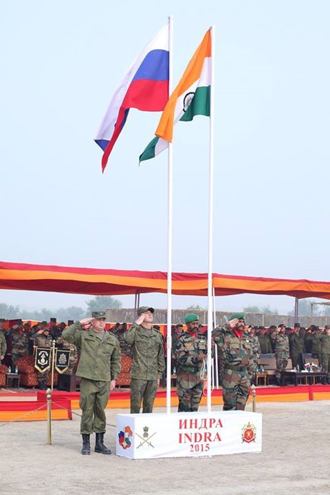 Joint Indo-Russian Military Exercise Opening ceremony of exercise #Indra held today. #IndianArmyTraining