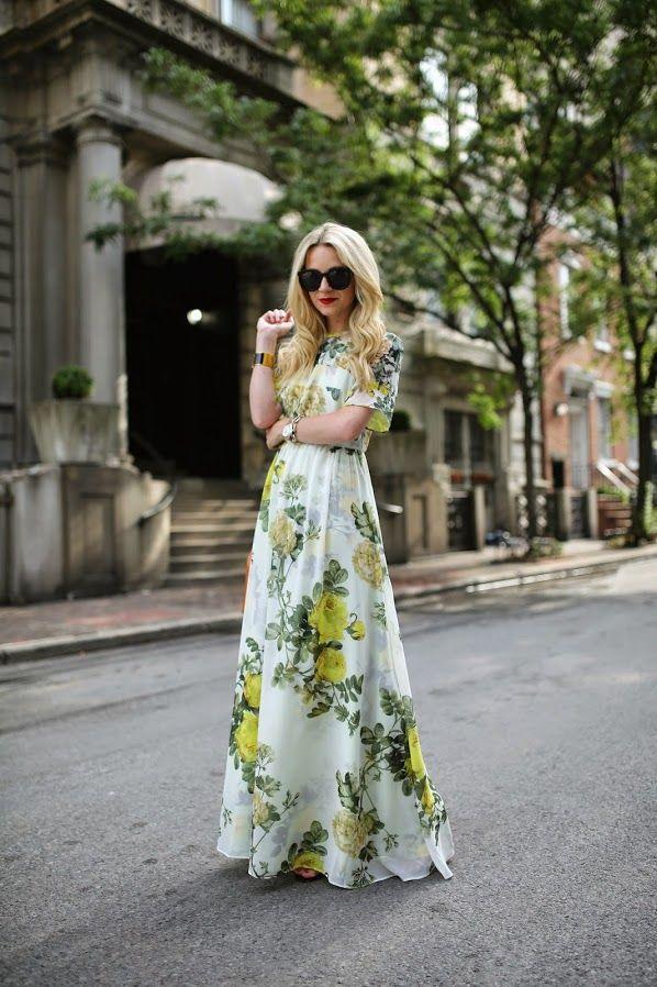 T-shirt Maxi Dress / ASOS Salon. I love the top of this dress. It looks so comfortable.