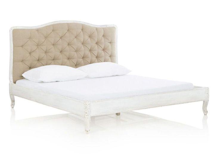 Vintage Bett Barock weiß 140 cm versandkostenfrei