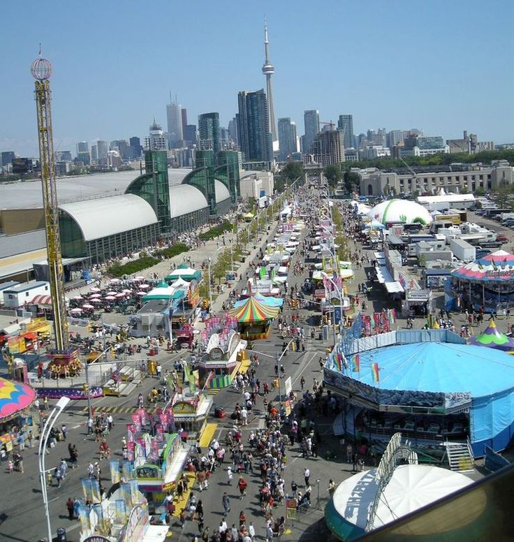 View of the CNE Midway from the Ferris Wheel