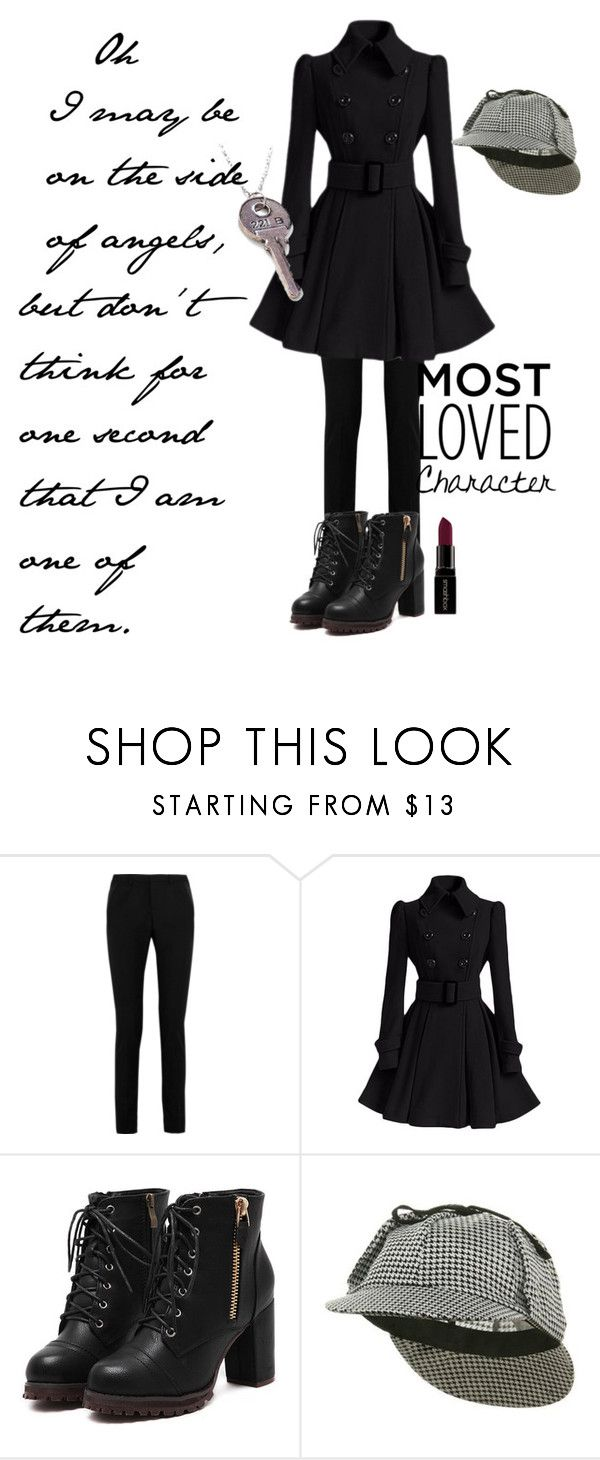 """Sherlock Holmes"" by sparkles-and-wine ❤ liked on Polyvore featuring Yves Saint Laurent, Jacobson Hat Company, Smashbox, contest, quote, sherlock, sherlockholmes and GenderSwitch"