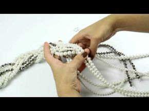 ▶ Fashion Topic El Galeón Collar Cascada de Perlas - YouTube