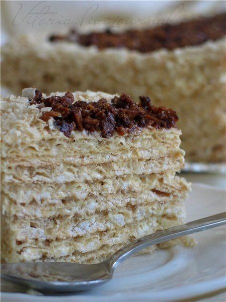 Вафельный торт с безе » Кулинарные рецепты