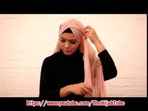 Criss cross hijab tutorial - YouTube