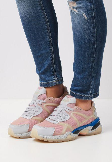 Pantofi sport Puma McQueen Run Lo Gri