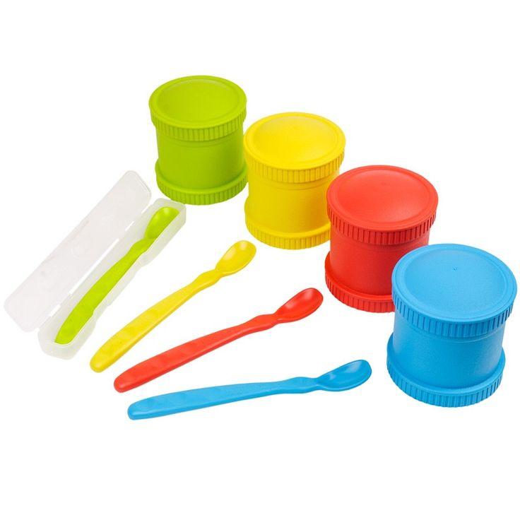Baby Feeding Set   4 Food Storage Containers U0026 4 Spoons W/ Travel Case