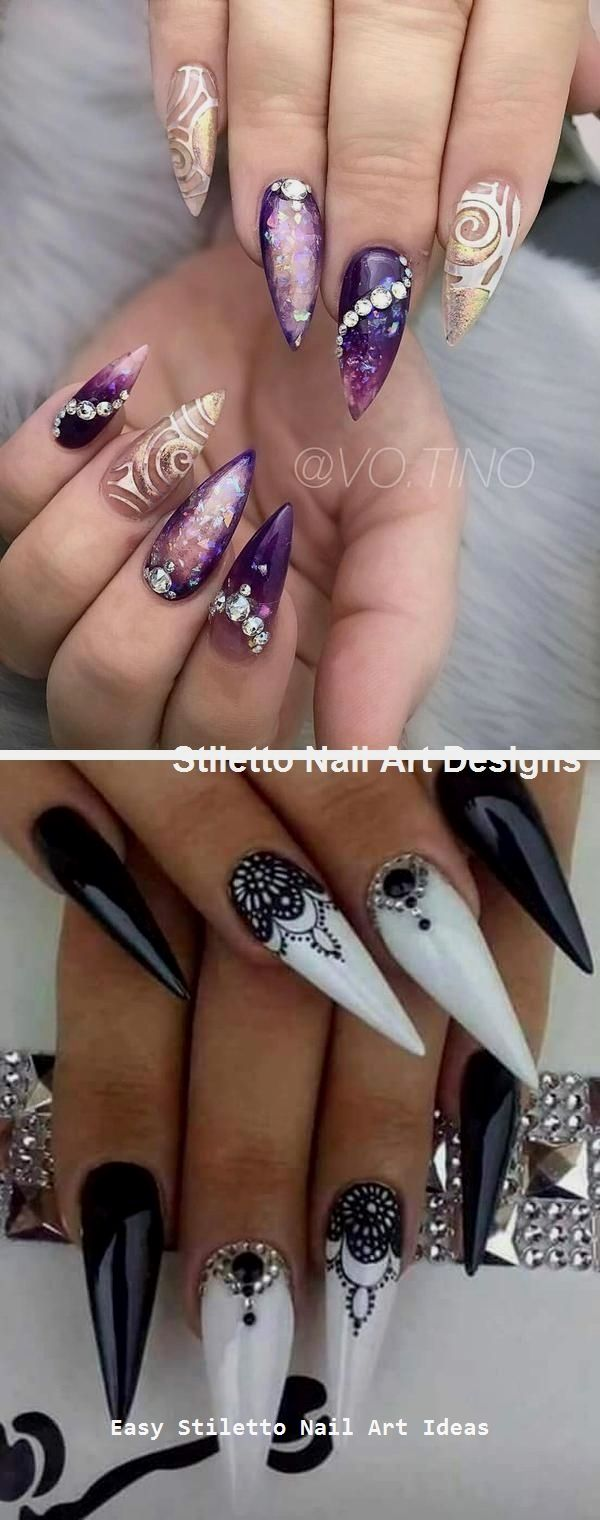 30 Ideen für großartige Stiletto-Nageldesigns #naildesigns #stilettonails – Stiletto Style Nails
