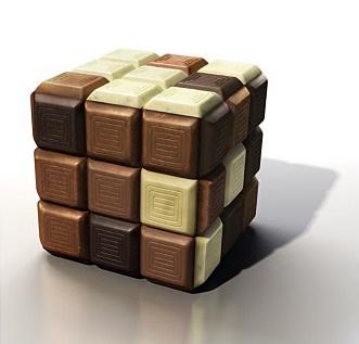 Cubo de Rubik de chocolate