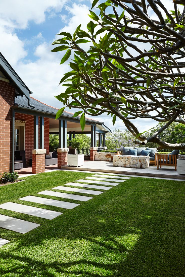Mount White Sandstone set into lawn - Outdoor Establishments