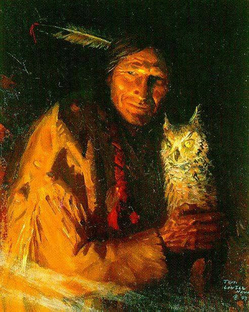Tom Lovell (1909 – 1997) - Kiowa Ventriloquist