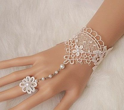 ON SALE Bridal gloves, wedding gloves lace bridal gloves, bridal cuff, Lace Wedding Accessories, white wedding, fingerless bridesmaid gloves