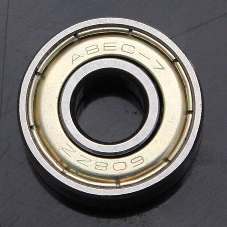Alta Calidad 10 UNIDS ABEC-7 608ZZ rodamiento rígido de bolas 8X22X7mm acero para rodamientos 608 ZZ cojinete de patinaje